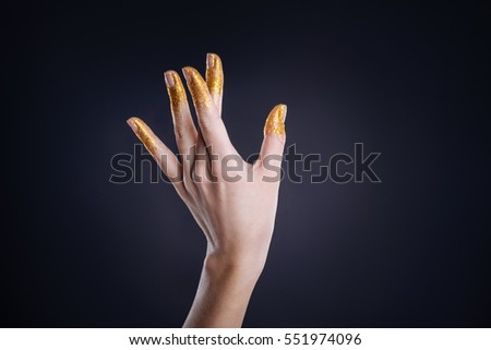 Slim hand of a woman  gestures
