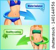 slimming woman body balance water and life healthy eating. rasterized/bitmap version - stock photo