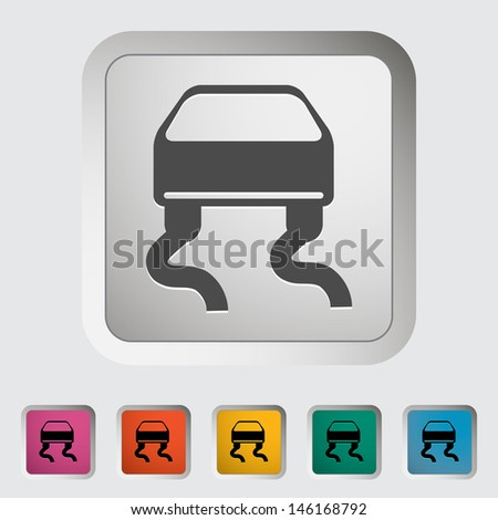 Slip-indicator. Single icon.  - stock photo