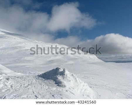 slope of Are ski resort - stock photo
