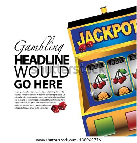 Slot machine background template. jpg - stock photo