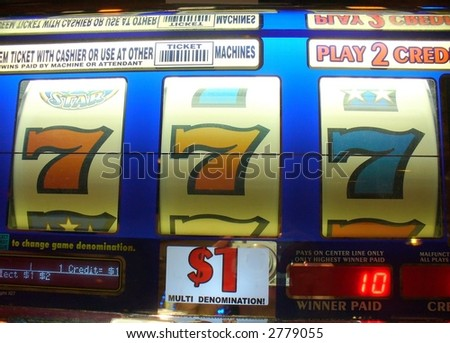 slot machine payoff - stock photo