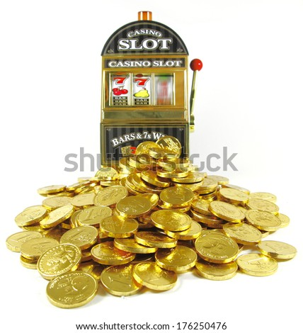 slot machine winnigs - stock photo