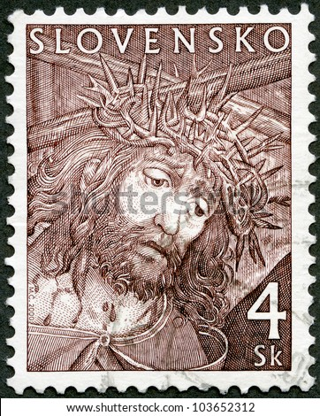 SLOVAKIA - CIRCA 2000: A stamp printed in Slovakia shows Easter, circa 2000 - stock photo