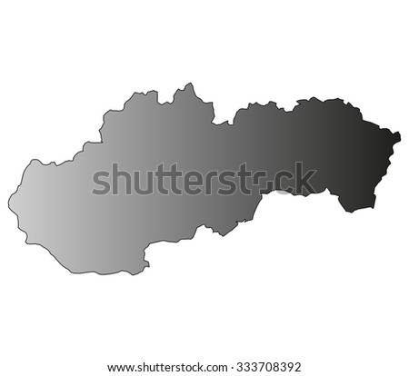 Slovakia map on a white background