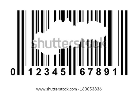 Slovakia shopping bar code isolated on white background.