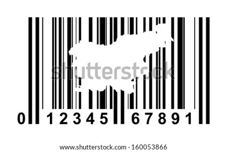 Slovenia shopping bar code isolated on white background.