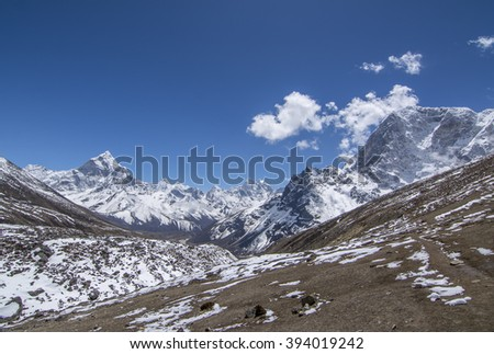 Slow and simple life in Himalayas.  - stock photo