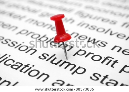 Slump concept - stock photo