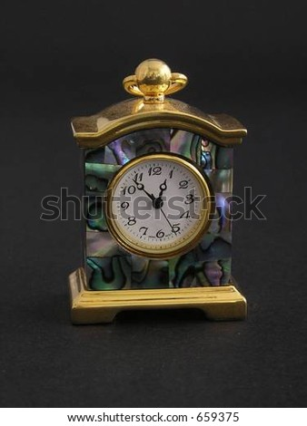 Small Abalone decorated clock