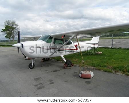 Small airplane - stock photo