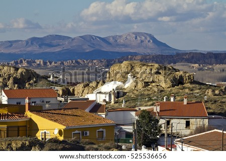 Small Andaluci­an town Guadix and Sierra de Baza