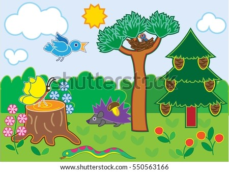 small animals in the forest