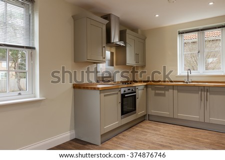 Small beautifully fitted luxury kitchen within new home