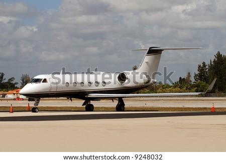 Small biz jet - stock photo