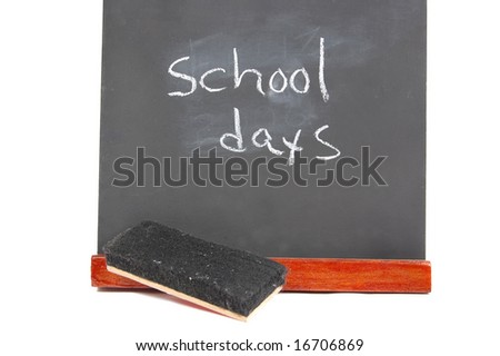 Small blackboard isolated on a white background - stock photo