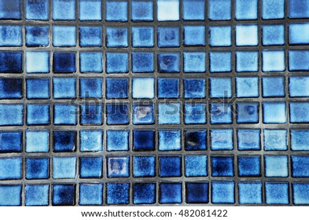 small blue tile background