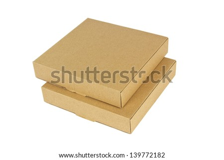 Small boxes isolated on white