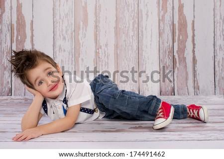 Small boy smiling  - stock photo
