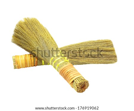 Small broom isolated on white background