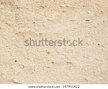 Small brown wooden sawdust to carpentry workshop - stock photo