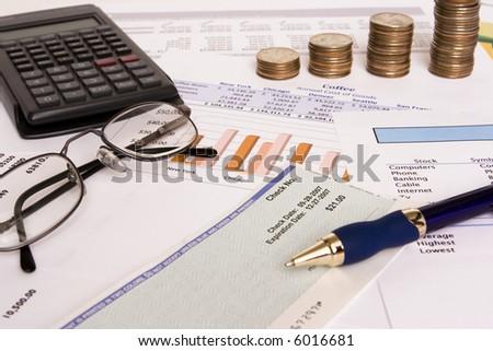 Small business finances - stock photo