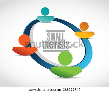 small business people diagram sign concept illustration design graphic - stock photo