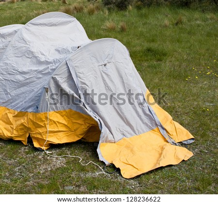 Small Camping Tent - stock photo