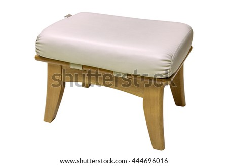 small chair isolated on white with clipping path - stock photo