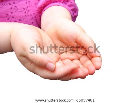Small Child's Hands 2 - stock photo