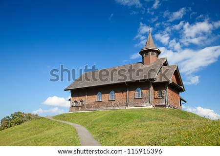 Small Church in alpine village