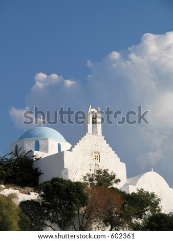 Small church on a Greek island
