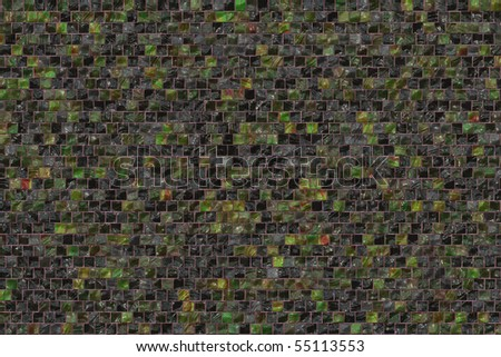 Small colorful mosaic tiles texture - stock photo