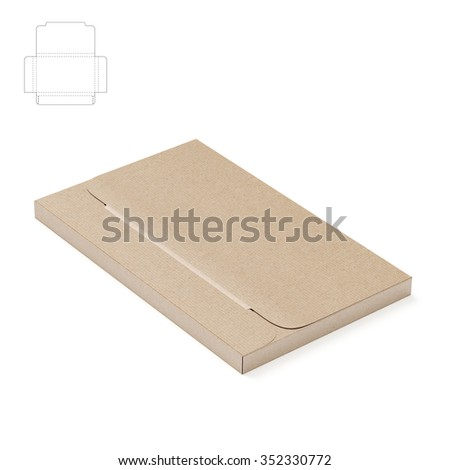 Small compact business cards sleeve box stock illustration 352330772 small compact business cards sleeve box with die cut template flashek Images