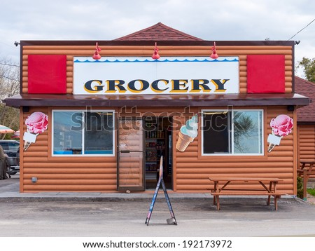 Small country grocery store - stock photo