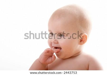small cute child - stock photo