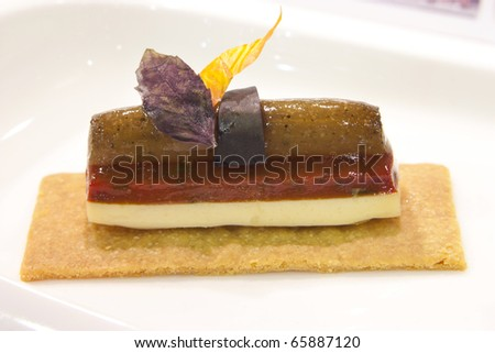 Small delicious finger Food art composition