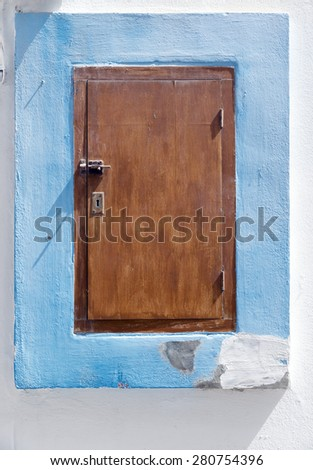 small door at Ibiza Island