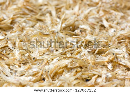 Small dry fish used in Asian cuisine