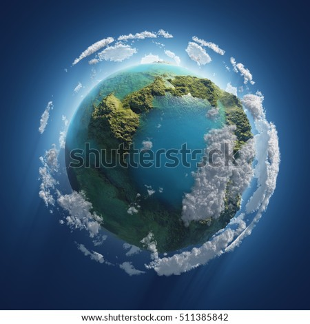 small Earth in the space, 3d illustration