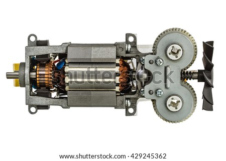 Metal parts stock images royalty free images vectors for Small electric motor parts
