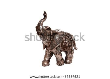 small elephant isolated - stock photo