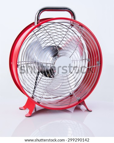 Small fan for room in summer heat - stock photo