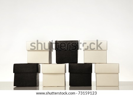 small favors gift boxes - stock photo