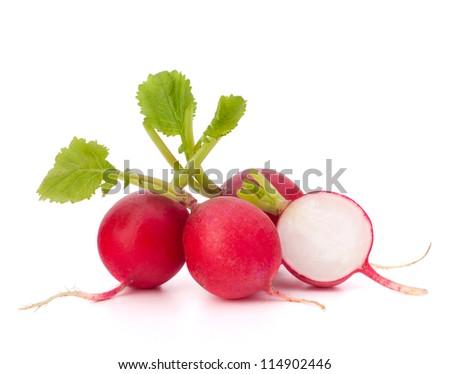 Small garden radish isolated on white background cutout - stock photo