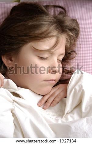 small girl sleeping - stock photo