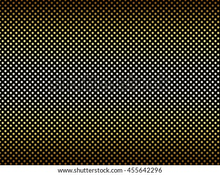 Small gradient gold black polka dot background