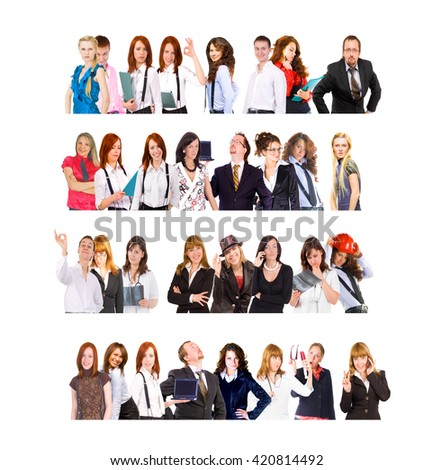 Small Group Isolated Groups  - stock photo