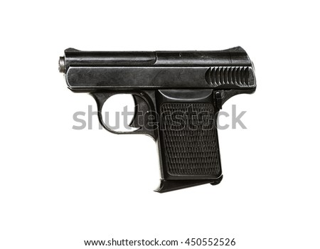 Small gun isolated on white background