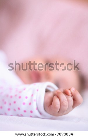 small hand - stock photo